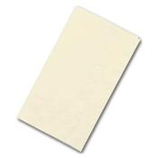 Dinex Ecru Burgundy 1/8-Fold Paper Dinner Napkins - Napkins