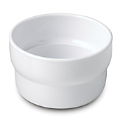 Dinex 4 oz White Monkey Melamine Dishes - Dinex
