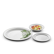 "Dinex Dinet China 5-1/2"" White Bread and Dessert Plates - Dinex"
