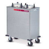 "Dinex Heated Enclosed 4 Silo 12"" Plate Dispenser - Dinex"