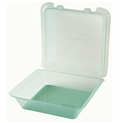 G.E.T. Clear 1-Compartment Eco-Clamshells - Reusable Take Out Containers