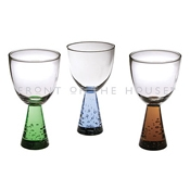 Front of the House ASA005GRG22 Mini Tulip Sampler, Green - Wine Glasses