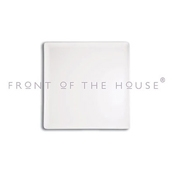 "Front of the House DAP017WHP23 8.25"" Square Mod Plate - Dinner Plates"