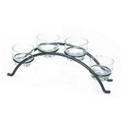 Front of the House TCS010GYI22 Pewter Condiment Bridge - Display Risers