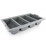 FSE CB-22G Gray Plastic Cutlery Box - Foodservice Essentials