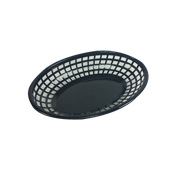 FSE FFB-96K Black Plastic Fast Food Baskets - Foodservice Essentials
