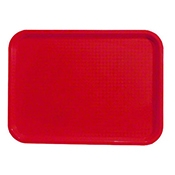 "FSE FFT-1216RD 12"" x 16"" Red Fast Food Tray - Foodservice Essentials"
