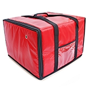 FSE IPDB-6 18R Insulated Pizza Delivery Bags Holds Six Pizzas - Foodservice Essentials