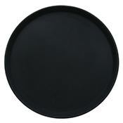 "FSE NST-1600BK 16"" Black Plastic Non-Slip Tray - Foodservice Essentials"