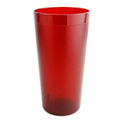 FSE PTS-20R 20 oz Red Pebbled Tumblers - Foodservice Essentials