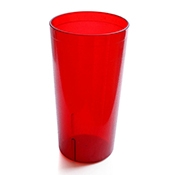 FSE PTS-32R 32 oz Red Pebbled Tumblers - Plastic Tumblers