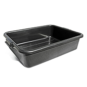 "FSE TB-5B 5"" Black Bustrote Box - Foodservice Essentials"