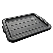 FSE TB-LIDB Black Bustrote Box Lid - Foodservice Essentials