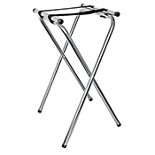"FSE TSC-3 1 31"" Chrome Plated Tray Stand - Foodservice Essentials"