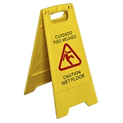 "FSE WS-CA 12"" x 25"" Wet Floor Caution Sign - Foodservice Essentials"