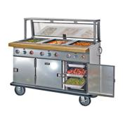 F.W.E. HLC-2W6-1 Heated Serving Wells Open Base Storage - Portable Steam Tables