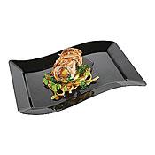 """Fineline Settings 1406 Wavetrends 6.5"""" x 10"""" Salad Plate - Fineline Settings"""
