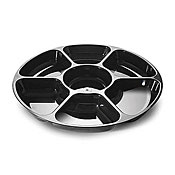 Fineline Settings 3507 Platter Pleasers 7 Compartment Tray - Disposable Catering Trays & Lids