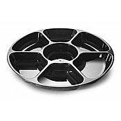 Fineline Settings 3510 Platter Pleasers 7 Compartment Tray - Disposable Catering Trays & Lids