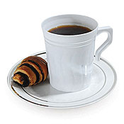 Fineline Settings 508 Silver Splendor 8 Oz. Coffee Mug - Fineline Settings