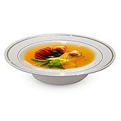 Fineline Settings 512 Silver Splendor 12 Oz. Soup Bowl - Fineline Settings