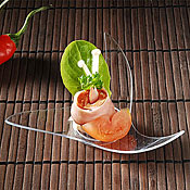 "Fineline Settings 6202 Tiny Temptations 3.75"" x 3.75"" Tiny Twist - Catering & Buffet Disposables"