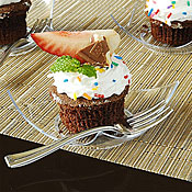 "Fineline Settings 6203 Tiny Temptations 2.75"" x 2.75"" Tiny Torte - Catering & Buffet Disposables"
