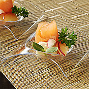 "Fineline Settings 6204 Tiny Temptations 2.75"" x 2.75"" Tiny Teaser - Catering & Buffet Disposables"