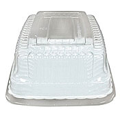 "Fineline Settings 9257-L Flairware 5"" x 7"" Snack Tray Dome Lid Set - Disposable Catering Trays & Lids"
