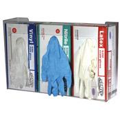 San Jamar G0805 Triple Clear Plastic Glove Dispenser - San Jamar