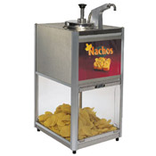 Gold Medal 2206 Chip 'N Cheese Combo Warmer/Merchandiser 10 lb. Chip capacity - Nacho Machines and Supplies