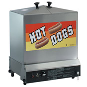 Gold Medal 8012 Super Steamin' Demon Hot Dog Steamer 160-180 Hot Dogs 60-80 Buns capacity - Hot Dog Equipment and Supplies