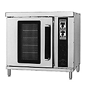 "Hobart HEC202 Double Convection Oven w/16-5/8"" Legs - Double Deck Convection Ovens"