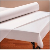 "Hoffmaster 40"" x 300"" White Paper Roll - Disposable Table Cloths"