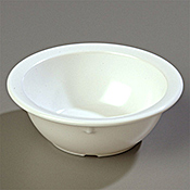 "Carlisle 12-1/2 oz, 5-1/2"" Rimmed Nappie Bowls - Carlisle"