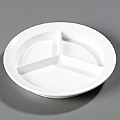 "Carlisle 8-3/4"", 1-1/4""D, 3-Compartment Plates - Dinner Plates"