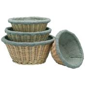 Matfer Bourgeat 118511 Medium Banneton Linen Lined Basket - Matfer Bourgeat