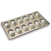 """Matfer Bourgeat 311001 Heavy Madeleine Sheet - Bakes 12 cookies of 2-3/4"""" - Matfer Bourgeat"""