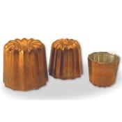Matfer Bourgeat 340415 Small Copper Tin Lined Cannele - Matfer Bourgeat