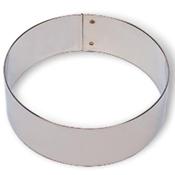"""Matfer Bourgeat 371206 8"""" Stainless Steel Flan Ring - Matfer Bourgeat"""