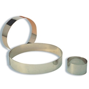 """Matfer Bourgeat 371409 8-3/4"""" Stainless Steel Mousse Ring - Matfer Bourgeat"""