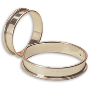 """Matfer Bourgeat 371616 10-1/4"""" Stainless Steel Plain Tart Ring - Matfer Bourgeat"""