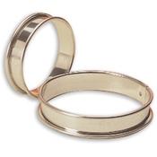 """Matfer Bourgeat 371708 4"""" Stainless Steel Small Flan Ring - Matfer Bourgeat"""