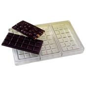 Matfer Bourgeat 380240 Chocolate Bar Sheet - Three Bars - Matfer Bourgeat