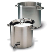 Matfer Bourgeat 694232 26 Qt Stockpot with Faucet - Stainless Steel Stock Pots