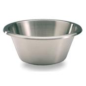 """Matfer Bourgeat 702640 15-3/4"""" Flat Bottom Stainless Steel Mixing Bowl - Matfer Bourgeat"""