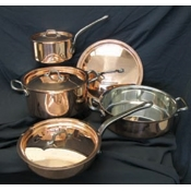 Matfer Bourgeat 915901 Copper Set of 8 - Cookware Sets