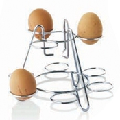 Matfer Bourgeat N4112 9 Boiled Stainless Steel Egg Display - Display Risers