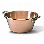 Matfer Bourgeat 304042 Solid Copper Extra Heavy Jam Pan - Matfer Bourgeat