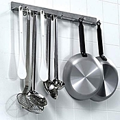 Matfer Bourgeat 719110 Kitchen Utensil Hanging Rail - Wall Racks